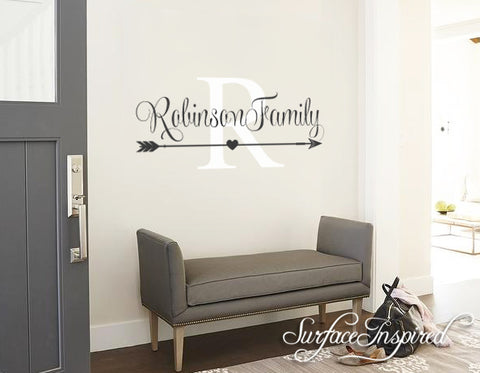 Wall Decals Quote - Personalized Family Name Wall Decal Name Monogram - Vinyl Wall Decal Family Wall Decor Wall Stickers Robinson Style Decal