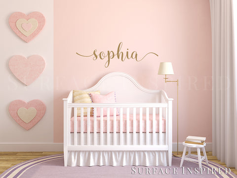 Wall Decals Personalized; Nursery Wall Decal Kids Wall Decal Wall Decals  For Girls Or Boys.