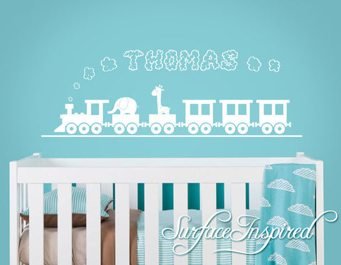 Nursery Wall Decals. Thomas train wall decal with a custom name ...