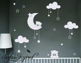Nursery Wall Decals Cuddly Bears Vinyl Wall Decal