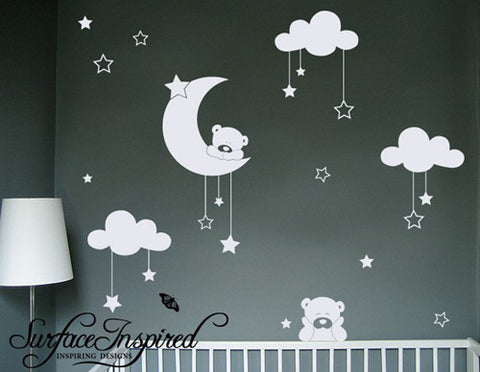 Good Nursery Wall Decals Cuddly Bears Vinyl Wall Decal
