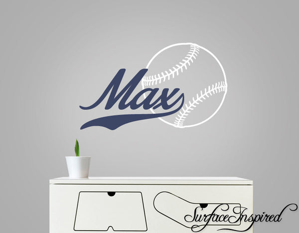 Baseball Wall Decal With Custom Name Wall Decal For Boys Rooms Surface Inspired Home Decor Wall Decals Wall Art Wooden Letters