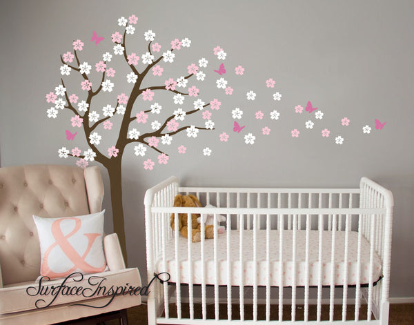 Nursery Wall Decals Cherry Blossom Tree Wall Decal