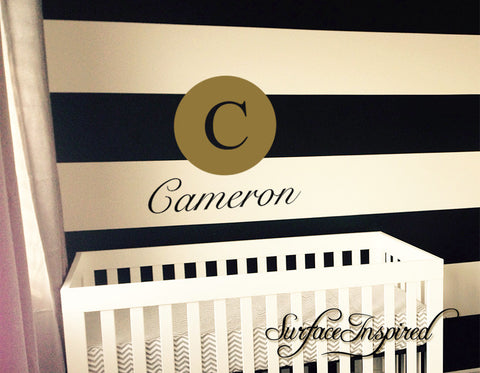 Wall Decals Personalized Names Nursery Wall Decal Kids Circle Cameron Style