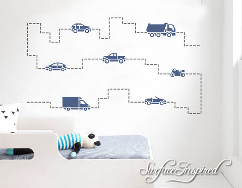 Kids Wall Decal Cars Wall Decals for Boys Vinyl Decal Stickers for boys