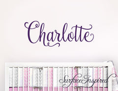 Nursery Wall Decal Kids Wall Decal Wall Decals For Girls or Boys. Wall Decals Personalized Names Charlotte Style
