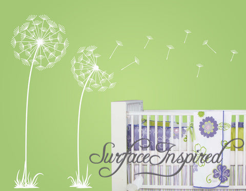 Dandelion Tree Wall Decals with Blowing Flowers Across your Wall