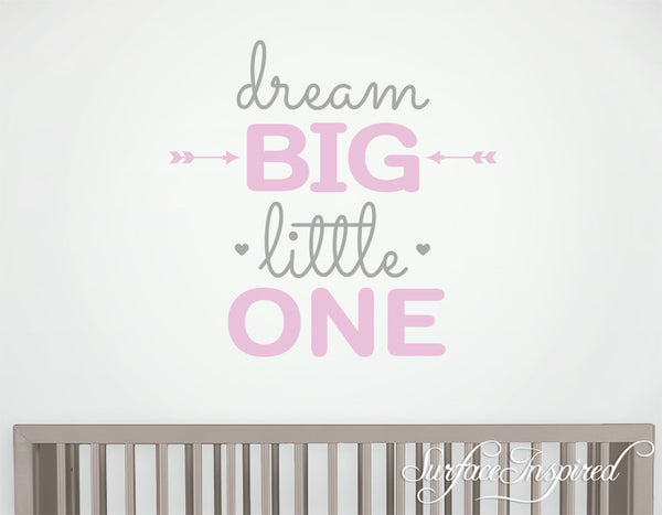 Wall Decal Quote Kids Wall Decal Nursery Dream Big Little One Quote Wa Surface Inspired Home Decor Wall Decals Wall Art Wooden Letters