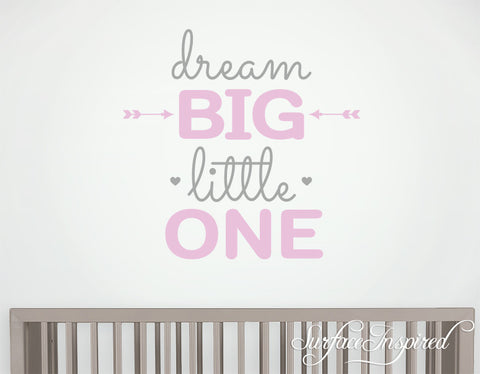 Wall Decal Quote Kids Wall Decal Nursery Dream Big Little One Quote Wall Decal For Boys and Girls Wall