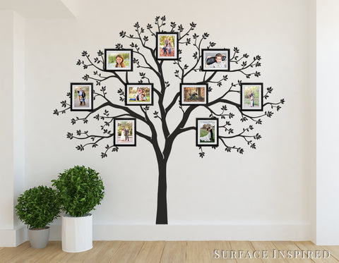 Elegant Large Family Tree Wall Decal   Photo Tree Decals
