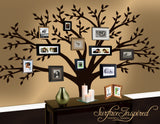 Large family tree wall decal - Photo tree decals