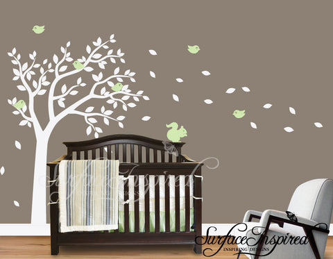 Nursery Wall Decals One Color Summer Tree Wall Decal