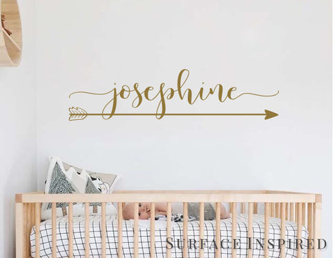 Wall Decals Personalized Names Nursery Wall Decal Kids Josephine With Arrow Wall Decal