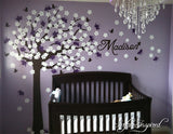 Nursery Wall Decals Stickers Large Cherry Blossom Tree with Custom Name Decal Large Emma Tree
