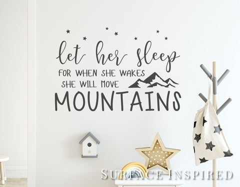 Wall Decals Quote Let Her Sleep Quote Wall Decal Stickers