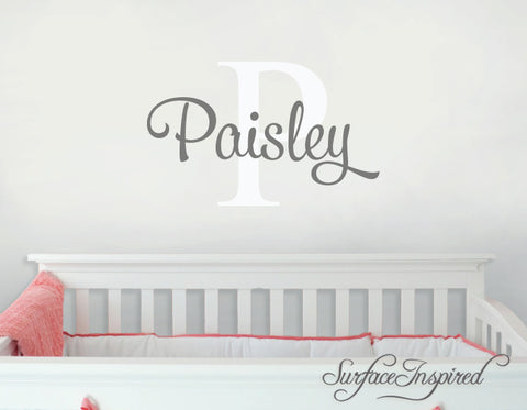 Nursery Wall Decals. Personalized names wall decal for boys and girls rooms. Personalized wall decal made in any colors and size you want Paisley Style Decal