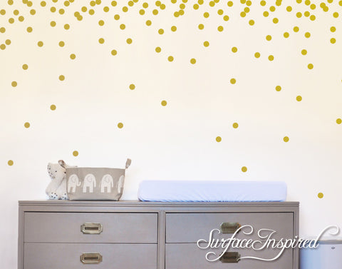 Polka Dot Wall Decals - Confetti circles wall decals made in any colors or size you want.