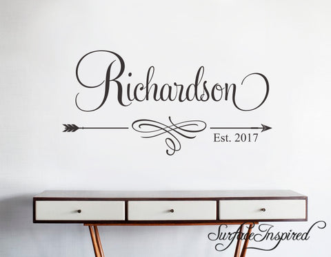 Wall Decals Quote - Personalized Family Name Wall Decal Name Monogram - Vinyl Wall Decal Family Wall Decor Wall Stickers Richardson Style Decal