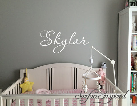 Name Wall Decals Nursery Vinyl Lettering Personalized Name Decal Skylar  Style