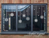 Snowflake Christmas Wall/Window Decals Christmas Decor