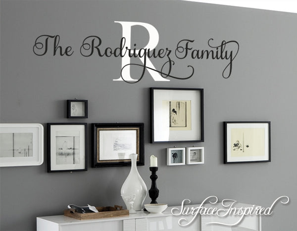 wall decal quote personalized family name wall decal rodriguez family  u2013 surface inspired home