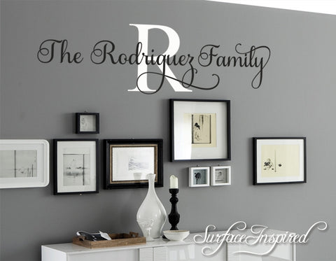 Wall Decal Quote Personalized Family Name Wall Decal Rodriguez Family Style & Wall Decal Quote Personalized Family Name Wall Decal Rodriguez ...