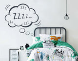 Wall Decal Quotes Zzz Cloud Vinyl Lettering Wall Decal Vinyl Wall Decor