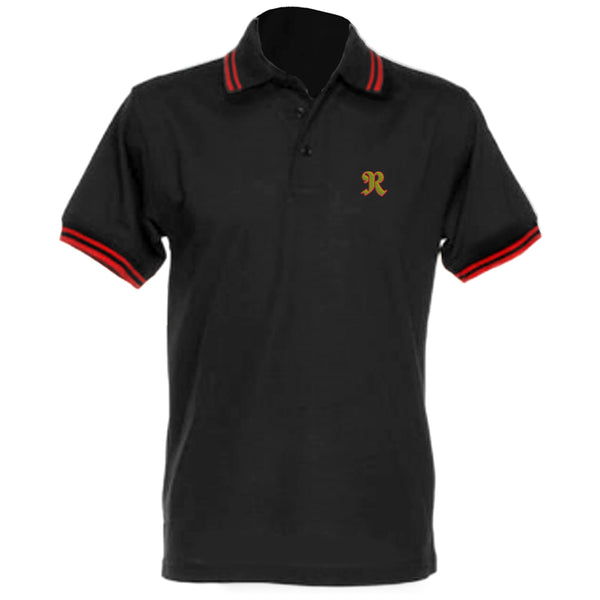 RAINBOW POLO BLACK / RED