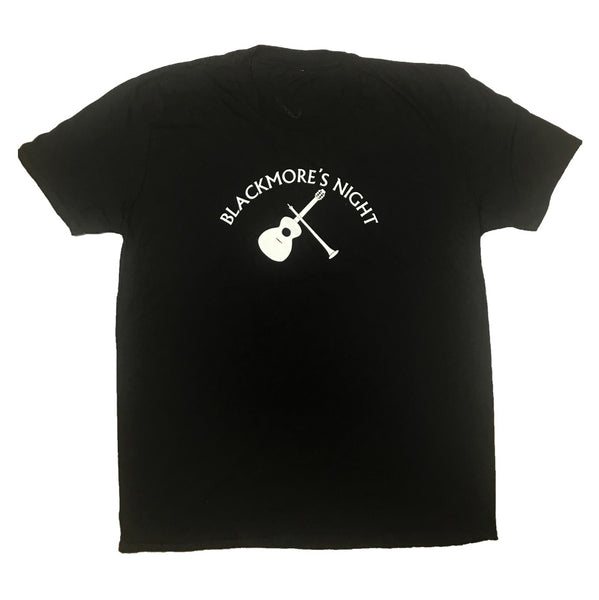 VINTAGE GUITAR LOGO BLACK T-SHIRT