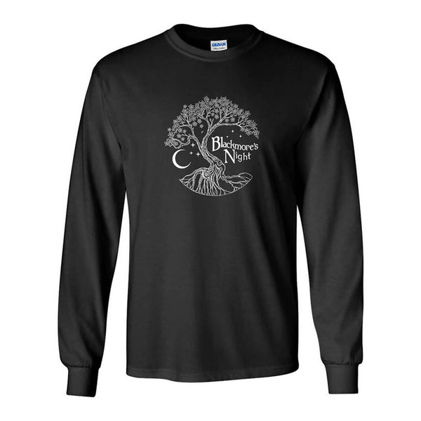 BLACKMORE'S NIGHT TREE LONG SLEEVE BLACK T-SHIRT
