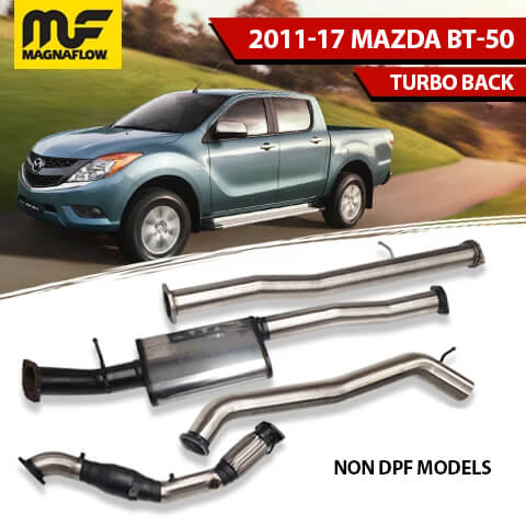Mazda BT50 2011-2017 3.2L TD Magnaflow Turbo Back Exhaust System No DPF