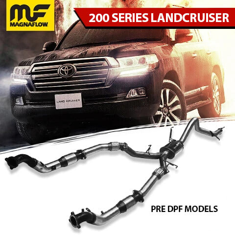 Toyota Landcruiser 2008-2014 4.5L TD 200 Series Magnaflow Turbo Back Exhaust System No DPF