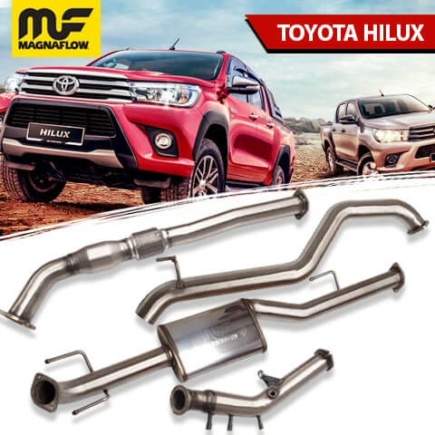 Toyota Hilux 2016-2020 2.8L TD Magnaflow Turbo Back Exhaust System With DPF