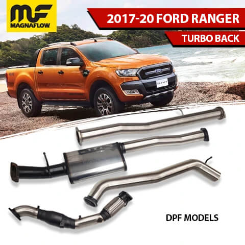 Ford Ranger 2017-2020 3.2L TD Magnaflow Turbo-Back Exhaust System With DPF