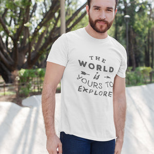 The World Is Yours To Explore Short-Sleeve Unisex T-Shirt - Noeboutiques