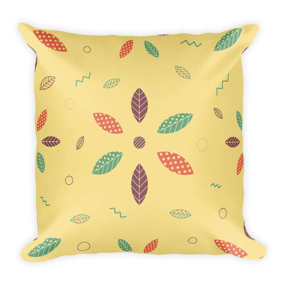 Geometric Leaves Pillow - Noeboutiques