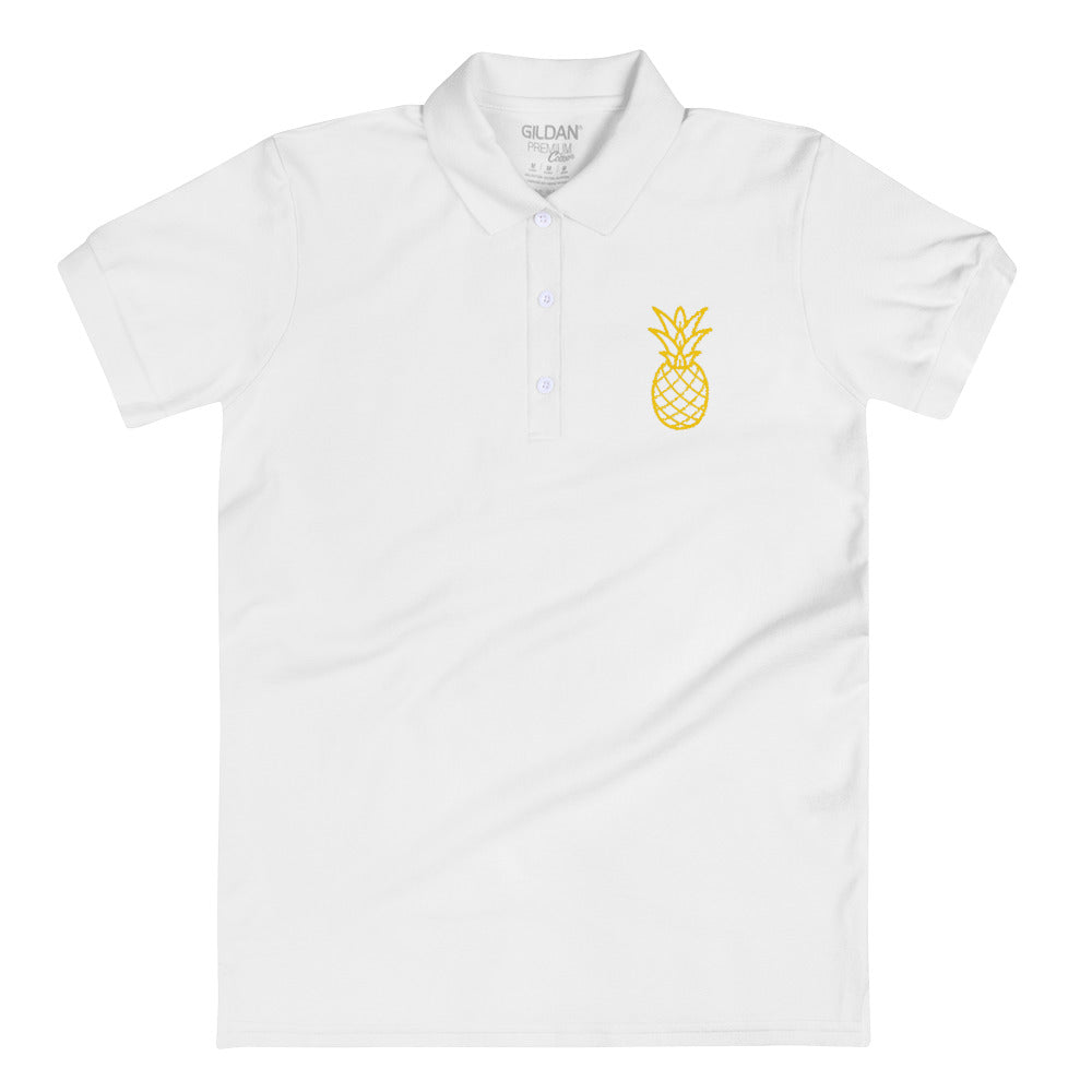 Pineapple Embroidered Women's Polo Shirt - Noeboutiques