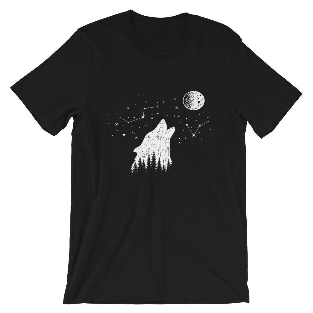Wolf And Stars Short-Sleeve Unisex T-Shirt - Noeboutiques
