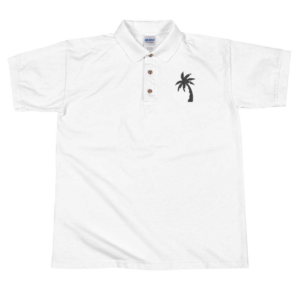 Palm Tree Embroidered Polo Shirt - Noeboutiques