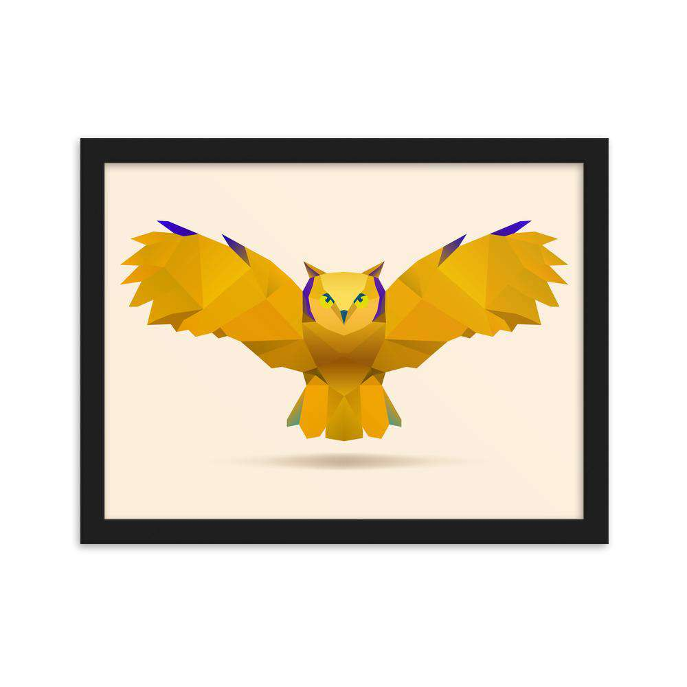 Flying Owl Framed Poster - Noeboutiques