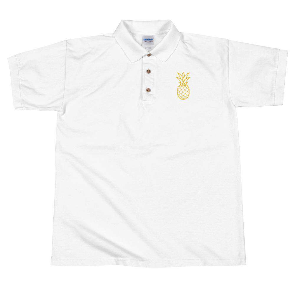Pineapple Embroidered Polo Shirt - Noeboutiques