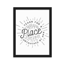 Load image into Gallery viewer, Yearn For A Place Framed Poster - Noeboutiques