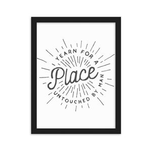Yearn For A Place Framed Poster - Noeboutiques