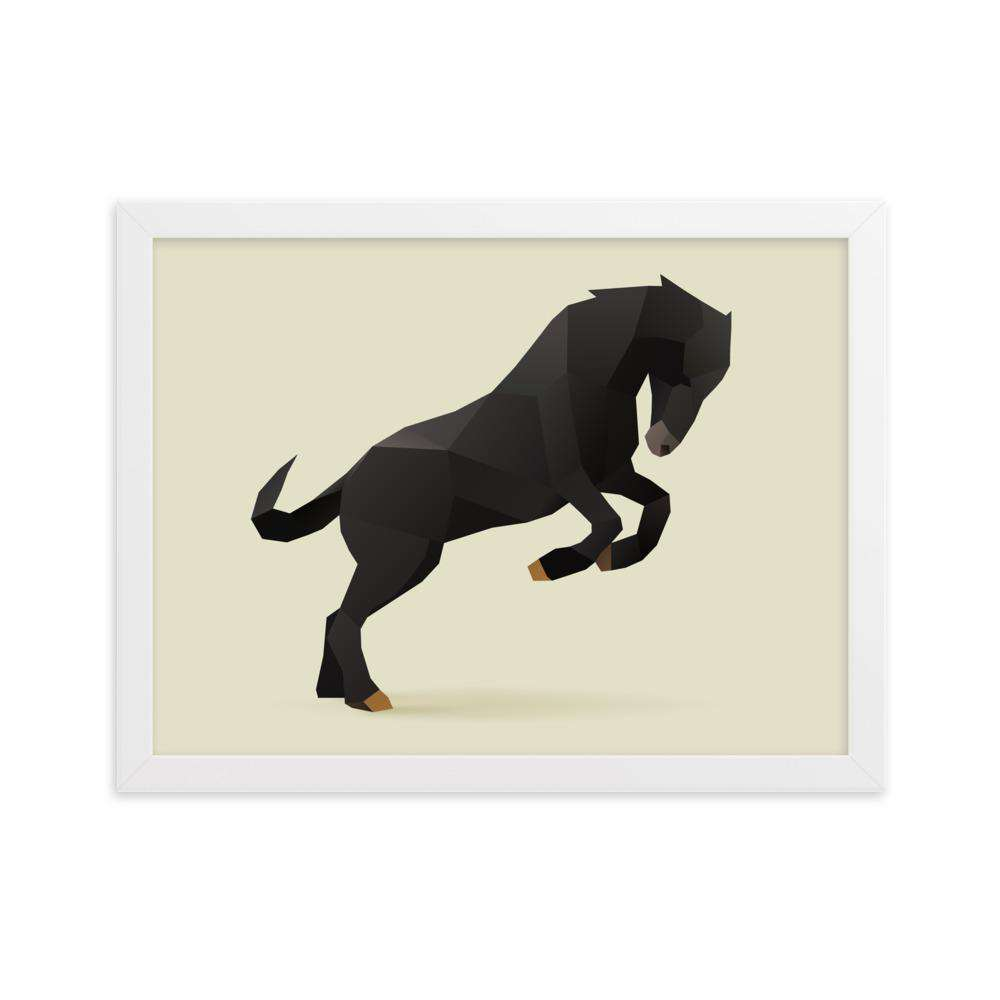Black Horse Framed Poster - Noeboutiques