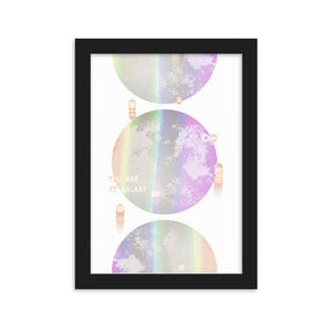 You Are My Galaxy Framed Poster - Noeboutiques