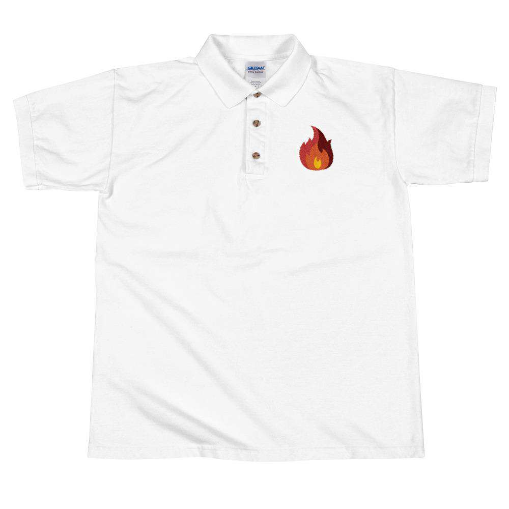 Fire Embroidered Polo Shirt - Noeboutiques