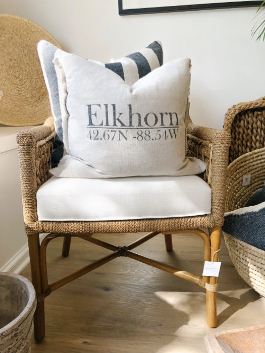 Elkhorn Wisconsin Pillow