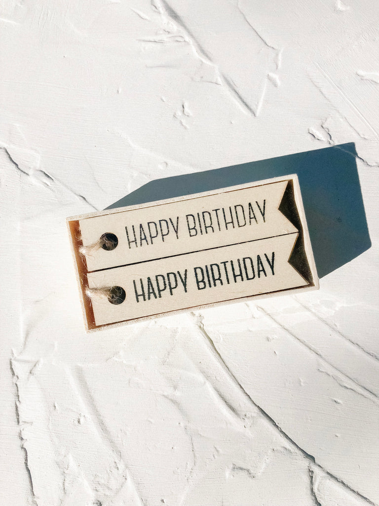Happy Birthday Wooden Gift Tags
