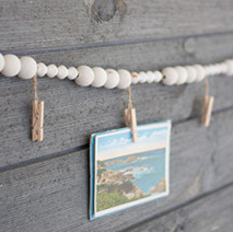 Wooden Garland with Clothes Pin