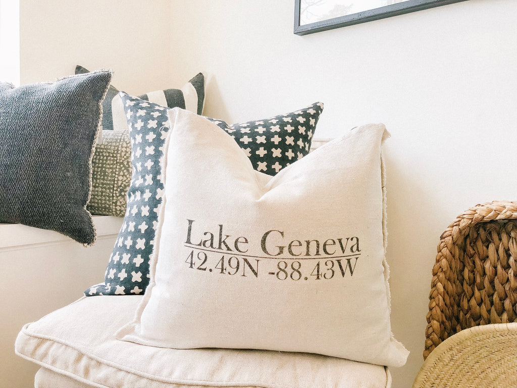 Lake Geneva Wisconsin Pillow